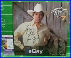 George Strait Autographed INSCRIBED to (TONY) LP Record Album, JSA Certified Coa