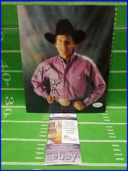 George Strait Signed Autographed INSCRIBED to ELAINE, 8x10 Picture, JSA Certified