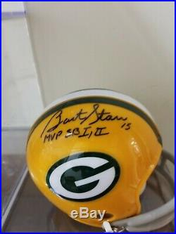 Green Bay Great Bart Starr autographed inscribed mini helmet Tristar/ picture