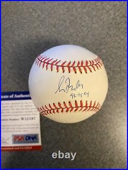 Greg Maddux Autograph Signed Cy Young Inscribed Ball ROMLB PSA Rawlings Baseball