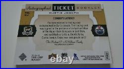 Inscribed 1/1 CUJO UD Cup Autographed Ticket Booklet Curtis Joseph 2018-19 Auto