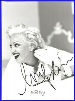 Inscribed MADONNA Signed Autographed RARE 8X10 Photo with PSA/DNA LOA