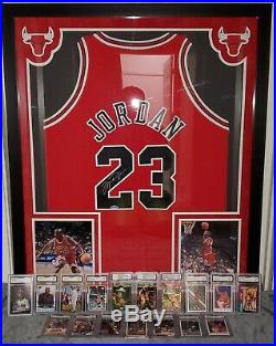 Inscribed MICHAEL JORDAN & TOM BRADY Signed Autographed Jersey with Signed 8X10