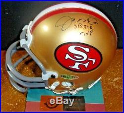 Inscribed Sbxix Mvpjoe Montana Autograph Signed Mini-helmet Master Collection