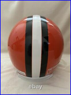 JIM BROWN Autographed Signed Browns Full Size Helmet Inscribed HOF 71 Beckett