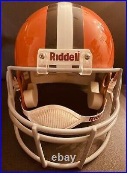 JIM BROWN signed Cleveland Browns Full size helmet JSA autographed inscribed HOF