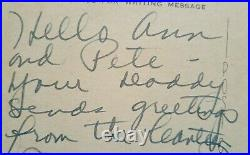 JOAN CRAWFORD Inscribed & Signed 1940'S HOLLYWOOD CANTEEN POSTCARD Rare