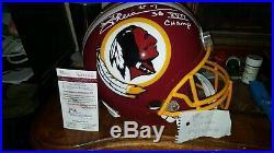 JOE THEISMANN Autographed Full Size Washington Redskins Helmet Inscribed SB XVII