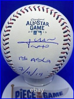 JUAN SOTO MLB All Star Game Autographed Inscribed Logo Baseball Nationals Champs