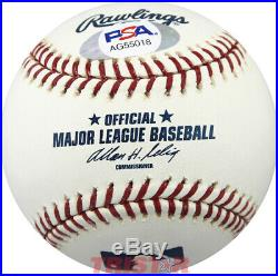 James Lovell Signed Autographed ML Baseball Inscribed Apollo 8, 13 PSA