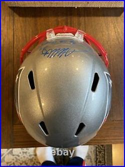 James White Autographed + Inscribed Full Size Replica Patriots Helmet Fanatics