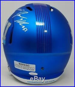Jason Kelce Autographed/signed Inscribed Full Size Sb LII Blue Eagles Helmet Jsa