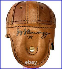 Jay Berwanger Autographed Leather Mini Helmet Inscribed'35' PSA First Heisman