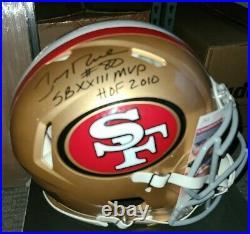 Jerry Rice Autographed 49ers Speed Authentic Proline Helmet Inscribed JSA