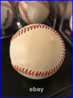 Joe DiMaggio HOF 55 Inscribed Single Signed Baseball Autographed Signed