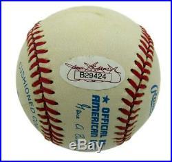 Joe DiMaggio Signed/Autographed Yankees HOF Inscribed OAL Baseball JSA 144700