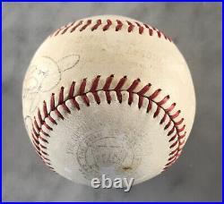 Joe Dimaggio Auto Autograph Signed Reach Oal Baseball Inscribed Yankees Hof Jsa