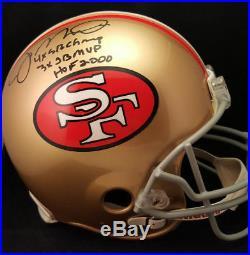 Joe Montana Autographed Signed TRIPLE INSCRIBED San Francisco 49ers Pro Helmet