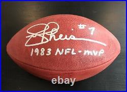 Joe Theismann Autographed NFL Football Washington Redskins'83 NFL MVP Inscribed