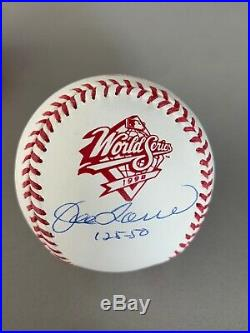 Joe Torre 1998 World Series Inscribed 125-50 Autographed Baseball Yankees MLB