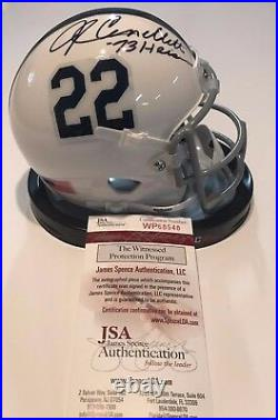 John Cappelletti Autographed Signed Inscribed Penn State Mini Helmet Jsa Coa