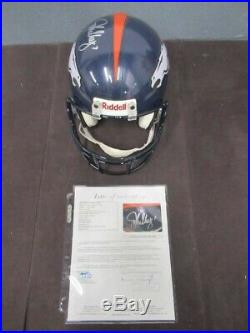 John Elway Signed Autograph Inscribed 7 Full Size Broncos Helmet Jsa Coa He082