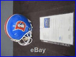 John Elway Signed Autograph Inscribed 7 Full Size Broncos Helmet Jsa Coa He095