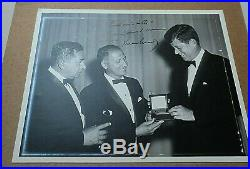 John F Kennedy Inscribed And Signed 8 X 10 Photo Of Him Receiving An Award W Coa