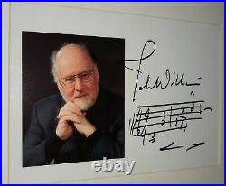 John Williams Signed Autograph 5x7 with inscribed STAR WARS intro score