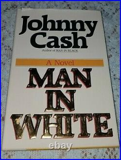 Johnny Cash Man In White Autographed First Edtion