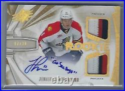 Jonathan Huberdeau 13/14 UD SPX Dual Patch / Auto Rookie INSCRIBED /30