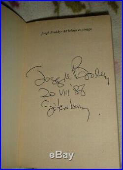 Joseph Brodsky russian poet original autograph signed swedish book rare