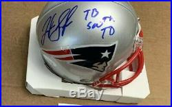 Josh Gordon Autographed Signed Mini New England Patriots Helmet JSA Inscribed