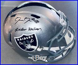 Josh Jacobs Oakland Raiders Autographed Signed Inscribed NFL Speed FS Helmet BAS