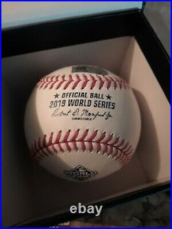 Juan Soto Autographed 2019 WORLD SERIES BASEBALL Inscribed MLB & FANATICS HOLOGR