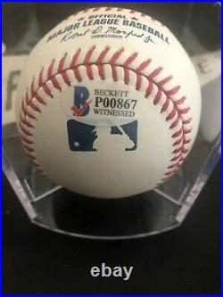 Juan Soto Autographed MLB Baseball Sweet Spot Signed and Inscribed MLB Debut