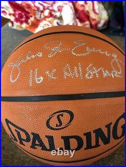 Julius Erving DR J Signed Autographed Inscribed Basketball COA Forensic DNA