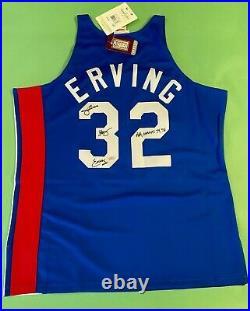 Julius Erving Nets Signed 1973-74 ABA Autographed Jersey Inscribed Fanatics COA