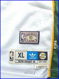 KEVIN DURANT Autographed & Inscribed SUPERSONICS Jersey PANINI LIMITED TO 135
