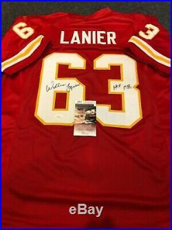 Kansas City Chiefs Willie Lanier Autographed Signed Inscribed Jersey Jsa Coa