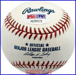 Kirby Puckett Autographed ML Baseball Inscribed HOF 2001 PSA Minnesota Twins