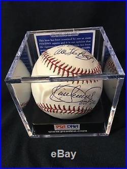 Kirby Puckett HOF 2001 Inscribed Autographed Baseball PSA/DNA Graded 8.5 Signed