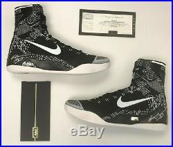 Kobe Bryant Autographed and Inscribed Nike Kobe IX BHM Shoes Panini Authentic