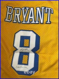 Kobe bryant autographed jersey inscribed Black Mamba