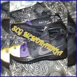 Kyle kuzma signed autographed Kobe AD ID shoes designed by kuz inscribed psa coa