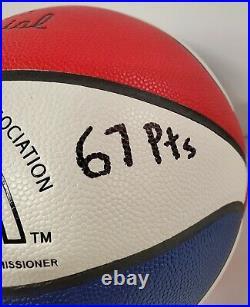 Larry Miller Autographed Signed Inscribed Full Size Aba Basketball Jsa Coa