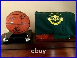 LeBron James UDA Rookie Autographed Engraved & Inscribed Basketball Ltd #7 RARE