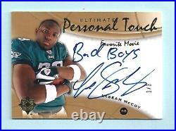Lesean Mccoy 2009 Ulitmate Personal Touch Inscribed Autograph Auto /3