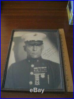 Lon Chaney Signed Inscribed Oversized Photo Tell It To The Marines Autograph