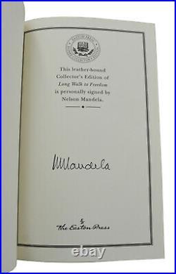 Long Walk to Freedom NELSON MANDELA Signed Easton Press Autographed